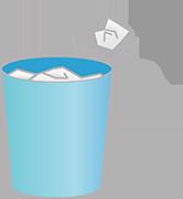 ゴミ箱のバナー